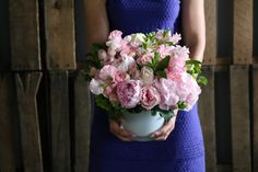"""Timeless elegance and grace: """"Peony Rose Classic"""" by Winston Flowers."""