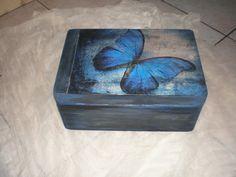 Κουτί με ντεκουπάζ, παλαίωση και πατίνες