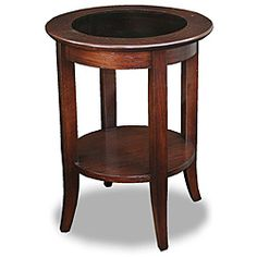 @Overstock.com.com - Chocolate Bronze Round Side Table - This charming round side table is ideal for use in any study or family room. You can easily display a charming piece of art on it or even use it for holding a drink. It is black and brown making it an ideal match for any color scheme you may have. http://www.overstock.com/Home-Garden/Chocolate-Bronze-Round-Side-Table/6318700/product.html?CID=214117 $114.99