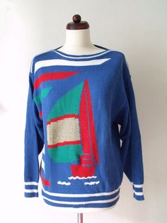 For all the sailors out there!  Vintage 1980's Sweater  by PaperdollVintageShop.etsy.com €29,90