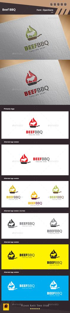 Beef BBQ Logo Template