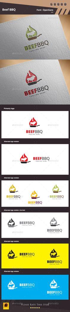 Beef BBQ Logo Template