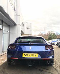 Ferrari GTC4 Lusso painted in Tour De France Blue  Photo taken by: @aimerydutheil_photography on Instagram