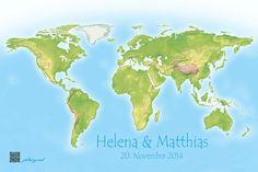 Weltkarte Urlaubstipps