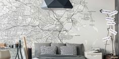 Create a large scale map mural in any size you want. Easy to apply and even easier to remove, our map murals will make a statement in any space! Scale Map, Create A Map, Custom Map, Us Map, Custom Wallpaper, Offices, Rv, Boston, Color