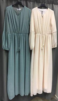 robe hijab boheme longue manches longues vert Hijab Chic, Hijab Style, Niqab Fashion, Modern Hijab Fashion, Hijab Fashionista, Mode Niqab, Diy Dress, Shirt Dress, Robe Diy