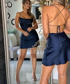 Image may contain: 1 person, standing and shoes Hoco Dresses, Satin Dresses, Pretty Dresses, Homecoming Dresses, Sexy Dresses, Beautiful Dresses, Evening Dresses, Fashion Dresses, Prom