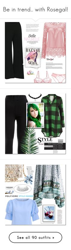 """""""Be in trend... with Rosegal!"""" by s-o-polyvore ❤ liked on Polyvore featuring Bela, Nika, H&M, Haute Hippie, Gucci, Urban Decay, Chanel, Bulgari, Anja and York Wallcoverings"""