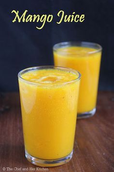 I had plans to post Mango recipes this year, but I could not do so because of my laziness.Somehow I managed to prepare a few mango reci. Summer Drink Recipes, Summer Drinks, Cold Drinks, Easy Smoothies, Smoothie Recipes, Mango Lemonade, Mango Banana Smoothie, Mango Drinks, Mango Pulp