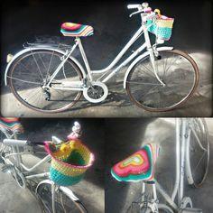 Bohemian Nature   Boho style   Ropa & Accesorios Handmade: Crochet: Cesta de trapillo para Bicicleta