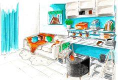 Bureau de chambre d 39 amis sur pinterest chambre bureau - Chambre d amis et bureau ...