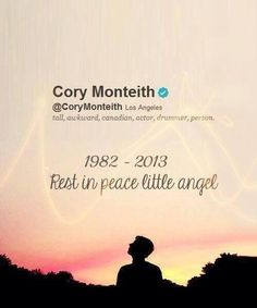 it's almost going to be one year since Cory took the midnight train.. And he hasn't come back.
