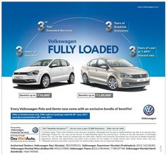Volkswagen Fully Loaded Every Volkswagen Polo and Vento now come with an exclusive bundle of benefits!