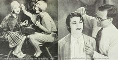 Hollywood-makeup---1920s. 1920s beauty guides were featured regularly in magazines and the new 'American-style-beauty as evoked by Hollywood was the 'image idéale' to be achieved.