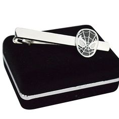 Spiderman Men's Tie Bar Clip Clasp Personalized Engraving Suit Shirt Wedding Gift