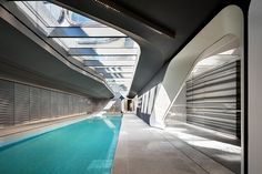 ZAHA hadid the new images of 520 west 28th include a 75-foot sky lit pool, a sculptural wall in the lobby, and the only private IMAX theater in new york city.
