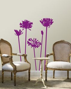 Purple Agapanthus Wall Decal at AllPosters.com