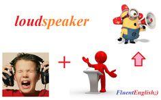 loud + speaker = loudspeaker! (громкоговоритель)  #английский #английскийслова #разговорныйанглийский #английскийскайп #английскийонлайн #английскийбыстро #английскийснуля #английскийдлявсех #английскийязык #followme