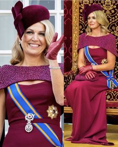King Willem-Alexander, Queen Máxima, Prince Constantijn and Princess Laurentien of the Netherlands attended Prinsjesdag (Prince's… Queen Fashion, Royal Fashion, King Alexander, My Fair Lady, Lela Rose, Queen Maxima, Blonde Women, Beautiful Dresses, Royals