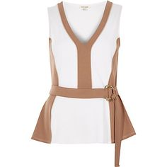 Brown peplum D-ring top €40.00