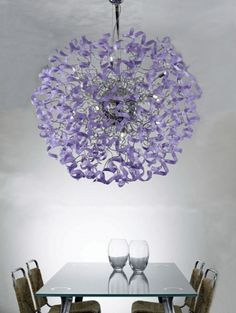 Beautiful Chandeliers In The Charming Purple Color - Astro by Metallux