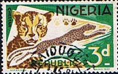 Nigeria 1965 SG 223 Cheetah Fine Used    SG 223 Scott 260    Condition Fine Used Only one post charge applied on multipul purchases    Details