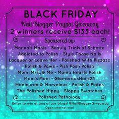 #NailBloggerGiveaway Polish & Plates: Black Friday Cash Giveaway!