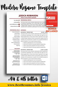 1 Page Resume Simple 63 Best One Page Resume Templates Images On Pinterest  Teacher .