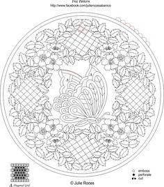 Image detail for -Ecstasy Crafts Blog: Butterfly and Roses - free pattern (July 2012 ...