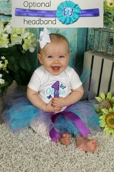 Butterfly Personalized Baby Girl's First Birthday by Tabitha942