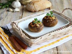 Funghi Champignon ripieni  L'autunno è nel piatto con questi deliziosi funghi ripieni!
