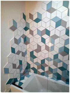 Home Decorating Ideas Modern Tile Designs, Updating House, Paving Design, Modern Bathroom, Japanese Bathroom, Bathroom Tile Designs, Modern Tiles, Wall Design, Geometric Tiles