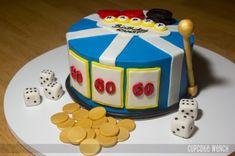 60th Birthday Slots Surprise Cake! See more: http://www.internetbet.com/casino-cakes/slot-machine-cake #cakeideas  #birthdaycakes #60thbirthday