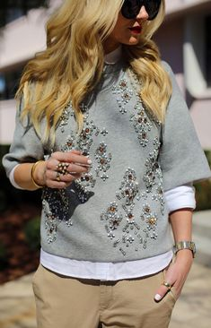 3.1 Phillip Lim embellished Sweatshirt by Atlantic - Pacific