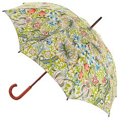 Morris & Co Roma Ladies Walking Length Umbrella - Golden Lily - Brolliesgalore