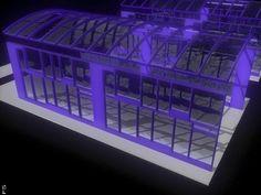 Glass Enclosed Atrium Space.