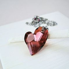 Red Heart Necklace    by Hildes