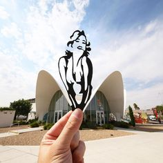 Marilyn's Dress Is The Entrance To The Neon Museum Of Las Vegas