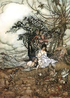 The Guest of Honor, by Arthur Rackham