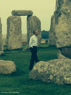 "President Obama visits Stonehenge ~ 9/5/2014 | ""How cool is this?! It's spectacular!"" he exclaimed as he roamed the ancient landmark, followed by press. ""Knocked it off the bucket list,"" he added."