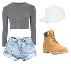 """""""Untitled #269"""" by sshedenah ❤ liked on Polyvore featuring Glamorous and Timberland"""