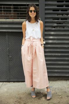 Breezy | Leandra | Cropped wide leg pants and sleeveless top.