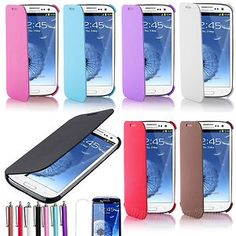Mouse over image to zoom  Magnetic Case Color Hard Folio Flip Cover for Samsung Galaxy S3 SIII i9300 Phone