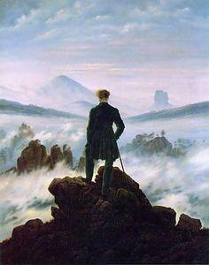 Romantisme : Caspar David Friedrich - Le voyageur devant la mer de nuages (1818)