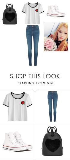 """Rosè (BLACKPINK) simple outfit"" by rospark05 on Polyvore featuring River Island and Converse"