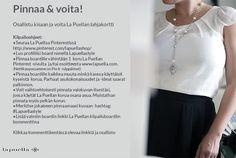 Osallistu stailauskisaamme. Luo oma boardisi ja voita lahjakortti La Puellan verkkokauppaan. Klikkaamalla kuvaa näet ohjeet.  https://www.facebook.com/lapuellashop/app_208195102528120 #kilpailu #kisa #pintowin #lapuellastyle