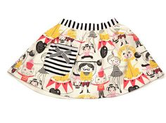 CIRCUS SKIRT by Misha Lulu. This is great, such a fun print.