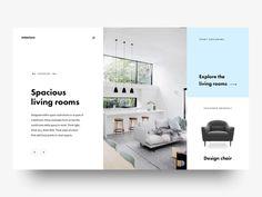 """via Muzli design inspiration. """"Dribbble Trend — Mondrianizm"""" is published by Muzli in Muzli - Design Inspiration. Pop Design, Interaktives Design, Layout Design, Clean Design, Graphic Design, Interior Design, Website Layout, Web Layout, Ui Animation"""
