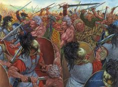 A coalition of Cisalpine Gallic tribes, reinforced by large numbers of Transalpine adventurers called Gaesatae, invade Italy. Avoiding the Romans at Ariminum, the Gauls cross the Apennines into Etruria. To meet this invasion, the Romans call on the Insubres' enemies, the Adriatic Veneti, the Patavini, and the Cenoman under the command of consuls Lucius Aemilius Papus and Gaius Atilius Regulus.