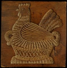 Thomas Collection - cb49  Hen Sitting on Basket   Origin: Dutch or German  Age: late 19th century